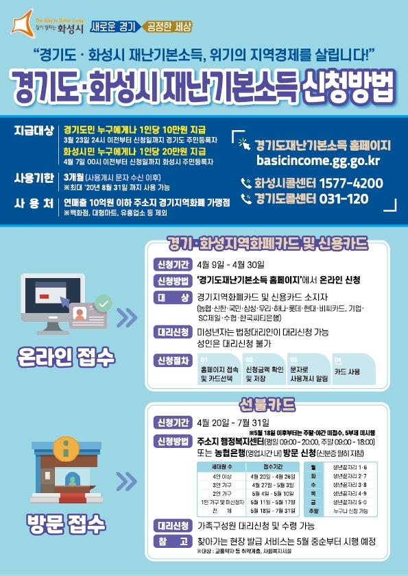기본소득 온라인신청 홍보전단지