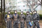 봉담읍자원봉사지원단 화산동자원봉사지원단 방역봉사