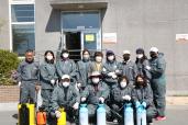 화산동자원봉사지원단 코로나 19 예방 방역활동