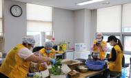 화산동지원단 취약계층을 위한 추석음식 만들기